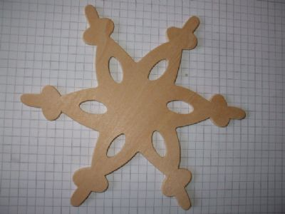 Birch Ply Large Wooden Lace Snowflake Wood Craft Shape